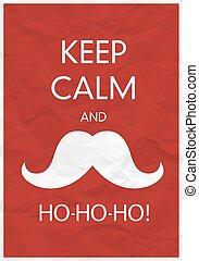 保持, ho-ho-ho!, 平靜