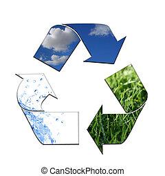 保持, the, 环境, 清洁, 带, 再循环
