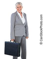 保有物のブリーフケース, 女性実業家