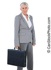 保有物のブリーフケース, 深刻, 女性実業家
