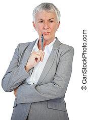 保有物のペン, 女性実業家