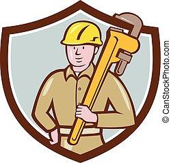 保有物のレンチ, 配管工, 頂上, 漫画