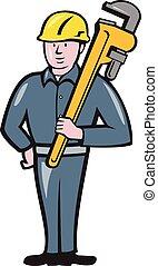 保有物のレンチ, 隔離された, 配管工, 漫画