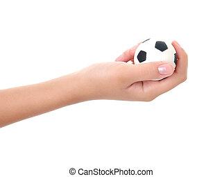 保有物の 球, スポーツ, 手, ティーネージャー