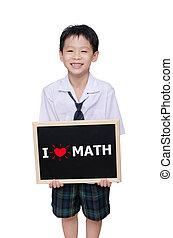 保有物, メッセージ, 男生徒, アジア人, 黒板