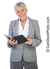 保有物, メモ用紙, 幸せ, 女性実業家