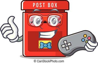保有物, メールボックス, ベクトル, マスコット, gamer