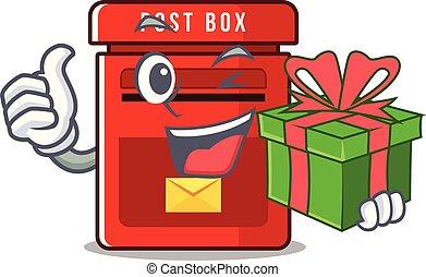 保有物, メールボックス, 贈り物, ベクトル, マスコット