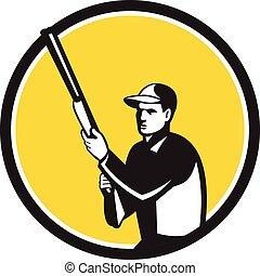 保有物, レトロ, 円, ハンター, ライフル銃, 散弾銃