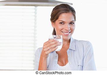 保有物, 女, ガラス, 水