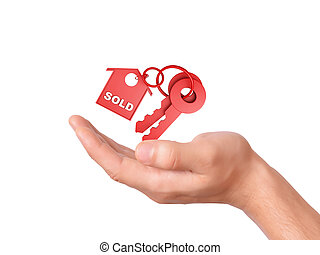 保有物, 家, keys., 売られた, 概念
