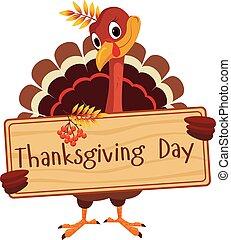 保有物, 板, トルコ, 感謝祭, 挨拶, ベクトル