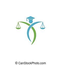 保有物, 正義, 法律, logo., ロゴ, 人, スケール, 弁護士, design.