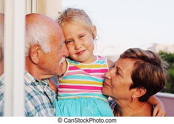 保有物, 祖父, 孫娘, 祖母, 古い, 年, 4
