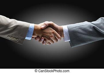 保有物, 黒い背景, -, 握手, 手