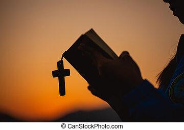 保有物, morning., 信頼, 祈ること, 神聖, 教会, 概念, religion., 交差点, 精神性, ...