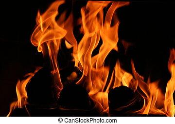 保温カバー, 暖炉