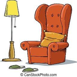保温カバー, 肘掛け椅子