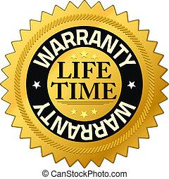 保証書, 寿命, 品質, バッジ, 保証