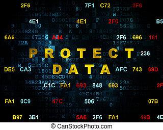 保護しなさい, 背景, デジタル, セキュリティー, データ, concept: