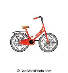 保護しなさい, 自転車, 金属, 小さい, ペダル, 子供, 赤