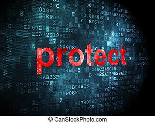保護しなさい, concept:, セキュリティー, 背景, デジタル