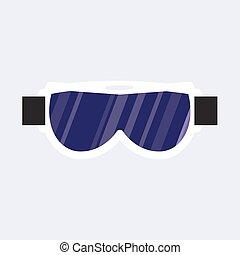 保護である, スキー, eyewear, マスク, 黒, ゴーグル, snowboarding, 白