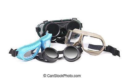 保護である, 様々, eyeglasses.