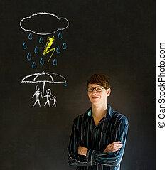 保護, について, 背景, 黒板, 人, teacherthinking, 家族, 自然災害, ∥あるいは∥