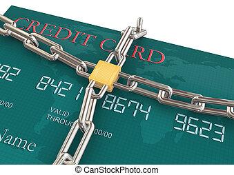 保護, の, クレジットカード