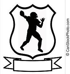 保護, フットボール, アメリカ人, スポーツ