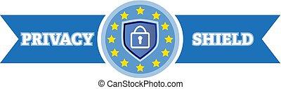 保護, プライバシー, ナンキン錠, ロゴ, セキュリティー, データ