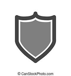 保護, ベクトル, セキュリティー, icon., 保護