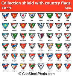 保護, 国, コレクション, 部分, 4, 6, flags.