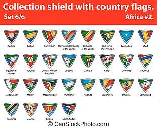 保護, 国, コレクション, 部分, 6, flags.
