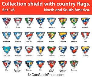 保護, 国, コレクション, 1, 部分, 6, flags.