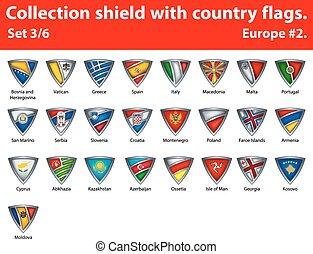 保護, 国, コレクション, 3, 部分, 6, flags.