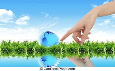 保護, 地球, 概念