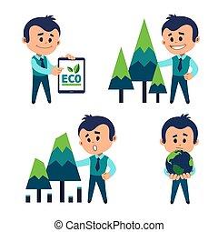 保護, 環境, 自然, concept., resources.