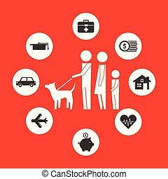 保護, 親, 犬, 家族, 息子