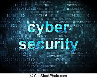保護, concept:, cyber, セキュリティー, 上に, デジタルバックグラウンド