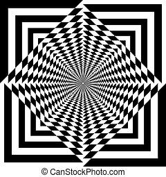 保護, tridimensional, アラベスク, pseudo, 屋根, 錯覚, 背景, 透明