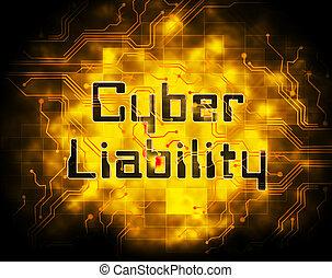 保険カバー, cyber, 2d, 責任, イラスト, データ