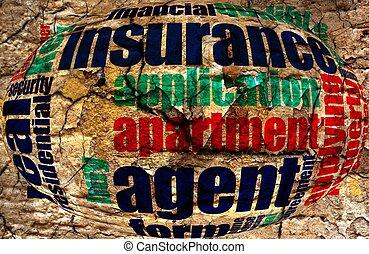 保険, 単語, 雲