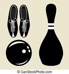 保齡球, 矢量, 圖象