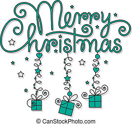 信件, 圣诞节, 玛丽, 手