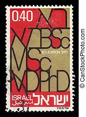 信件, ......的, the, 希伯來人, 以及, 英語, 字母表