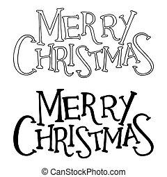 信件, text., 隔离, 矢量, 圣诞快乐