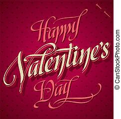 信件, valentines, (vector), 手