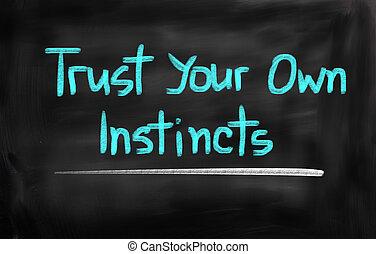 信任, 你, 自己, 本能, 概念